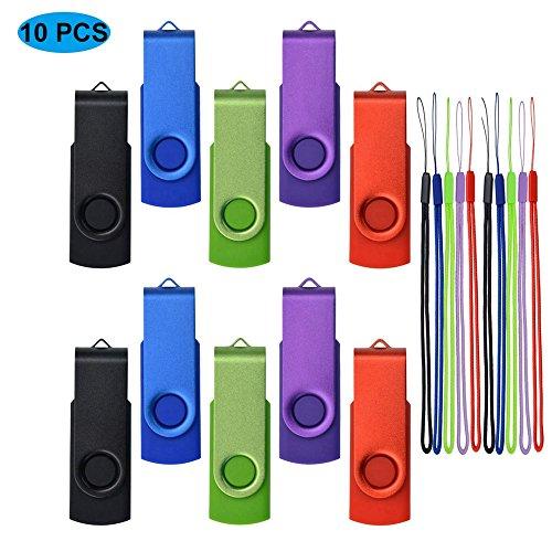 10 Pack 32MB USB Flash Drives - Small Capacity USB2.0 Memory Sticks - Kepmem 10 Assorted Colors Pen - Usb Drive Flash 32mb