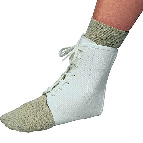 OTC Ankle Brace, Canvas Lace-Up, Semi-Rigid Spiral Stays, - Ankle Canvas Lace Brace Up
