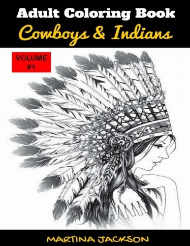 Adult Coloring Book Cowboys Indians product image