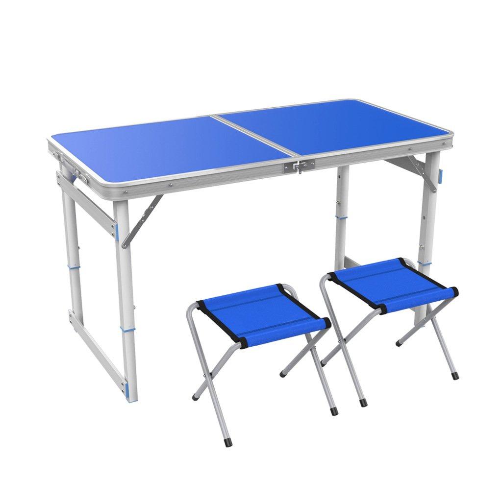 TTZDZ Klapptisch Campingtisch Picknicktisch Aluminiumlegierung Portabler Klapptisch Party -120cm x60cm(L & W)