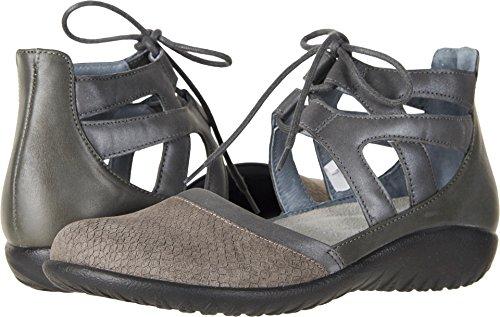 Naot Footwear Women's Kata Gray Iguana Nubuck/Shadow Gray Nubuck/Tin Gray Leather 40 M EU by Naot Footwear