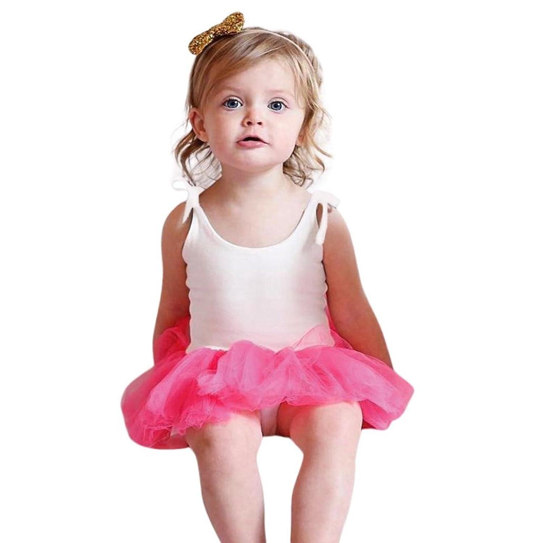 vestidos de niña, ASHOP Vestido de Gasa de Playsuit de Correas ...