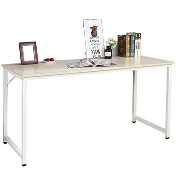 Groovy Dlandhome Large 55 Computer Desk Composite Wood Board Modern Home Office Desk Workstation Table Maple Download Free Architecture Designs Ferenbritishbridgeorg