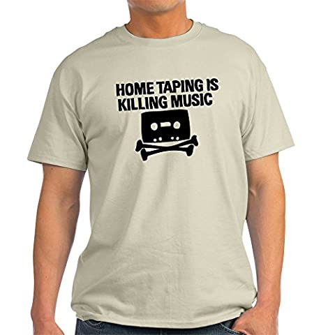 CafePress - Home Taping is Killing Music Light T-Shirt - 100% Cotton T-Shirt - Back Music Light T-shirt