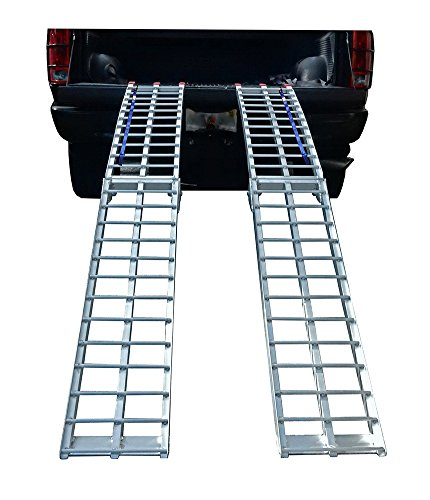 (Pit Posse PP2755-9P Pair of Folding Arched Ramps 9 Foot x 11in 1200lbs)