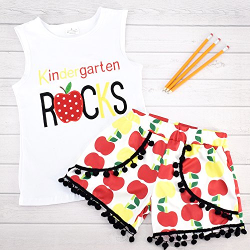 Unique Baby Girls Kindergarten Rocks Back to School Outfit (7/XXL) by Unique Baby (Image #2)'