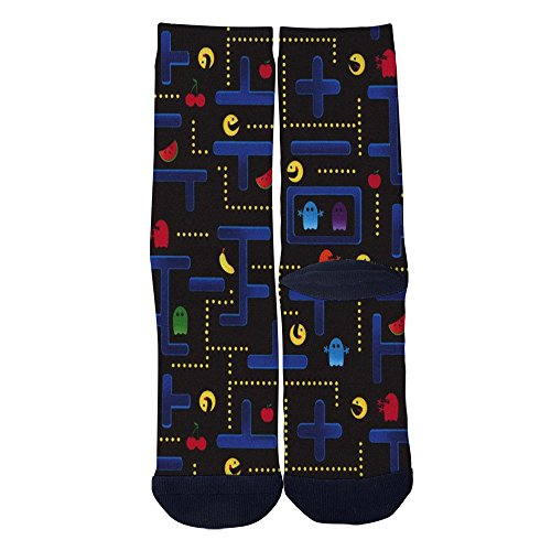 Colorful Pac-Man Themed Socks for Men or Women, Sizes 6-8, 8-12