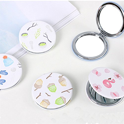 KEANER Women's Accessories Cute Mirror Mini Round Portable New Pattern Glass Mirrors Circles for Crafts Decoration Cosmetic Accessory by KEANER
