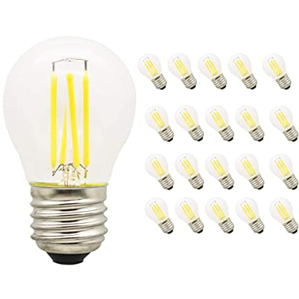 20X Vendimia LED Edison Filamento Pelota de Golf Del Bulbo G45 - Bombilla 4W Luz LED