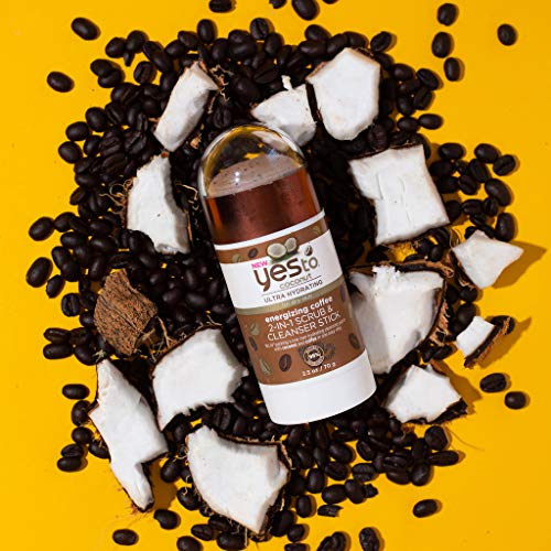 Yes To Coconut Ultra Hydrating Energizing Coffee 2 in 1 Scrub  Cleanser Stick 25 Ounce