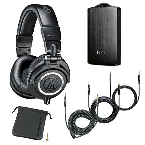 Audio-Technica ATH-M50x Monitor Headphones (Black) (w/ Amp)