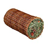 Trixie Wicker Tunnel with Hay and Dried Carrots for Small Animals