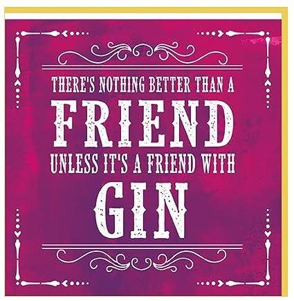 Carte De Voeux Pr Arg084 Anniversaireblank Gin Ami