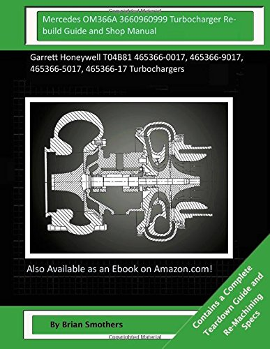 Download Mercedes OM366A 3660960999 Turbocharger Rebuild Guide and Shop Manual: Garrett Honeywell T04B81 465366-0017, 465366-9017, 465366-5017, 465366-17 Turbochargers pdf epub