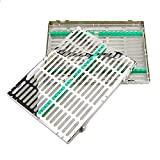 Airgoesin 20-Slot Sterilization Cassette Rack for 20 Dental Surgical Instrument Autoclavable