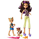 Monster High Monster Family Clawdeen Wolf, Barker Wolf, Weredith Wolf Dolls, 3 Pack