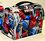 Spider-Man Web Slinging Workman's Carry All Domed Tin Lunch Box