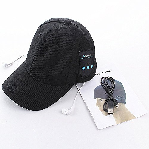 Topoint® Outdoor Sport Wireless Bluetooth Hat Music Baseball Headphone Cap for Runner,Bluetooth 4.0+EDR Earbuds Headset Earphones Cap+Set-in MIC Speakphones For iPhone 6/6 Plus/5/5c/5s & Samsung