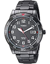 Timex Mens TW2P61600 Fieldstone Way Black Stainless Steel Expansion Band Watch