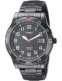 Timex Men's TW2P616009J Main Street Gunmetal-Tone Watch...