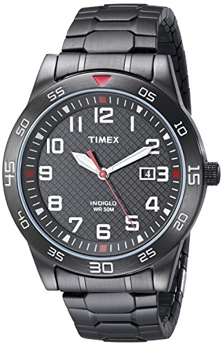 (Timex Men's TW2P61600 Fieldstone Way Black Stainless Steel Expansion Band Watch)
