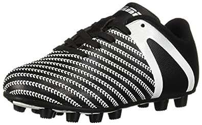 Vizari Unisex Impact FG Soccer Shoe, Black/White, 1.5 Regular US Little Kid