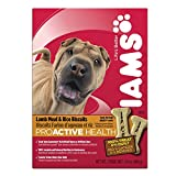 IAMS PROACTIVE HEALTH Adult Biscuits Lamb Meal and Rice 24 Ounces (Pack of 6)