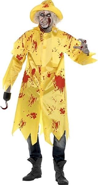 Para hombre Zombie pescador mar hombre Sou Wester Halloween ...