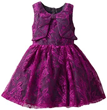 Blueberi Boulevard Baby Girls' Special Occasion Sequin Lace Dress, Purple, 18 Months