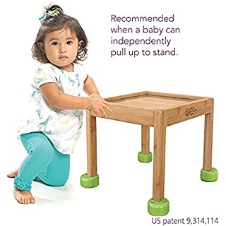 Little Balance Box 2-in-1: No Wheels Spring Feet, Girl Boy Baby Walker Push Stand Toys, Toddler Activity Table, Award Winning (Green)