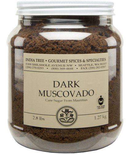 India Tree Dark Muscovado Sugar, 2.8 (Dark Sugar)