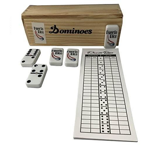 Puerto Rico Double Six Dominoes Guiro Regular Size with Score Pad