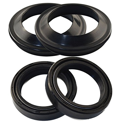 (AHL Front Fork Shock Oil Seal and Dust Seal Set 38mm x 50mm x 11mm for Kawasaki KLR650 1987-2003)