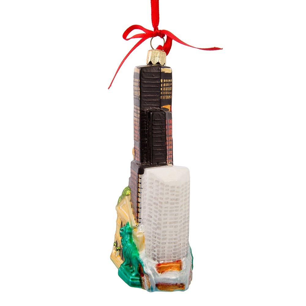Christmas Ornament C4582 Kurt Adler Chicago Glass Cityscape