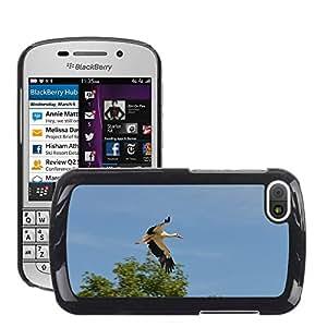 Super Stella Slim PC Hard Case Cover Skin Armor Shell Protection // M00146605 Stork Bird Animal Rattle Stork // BlackBerry Q10
