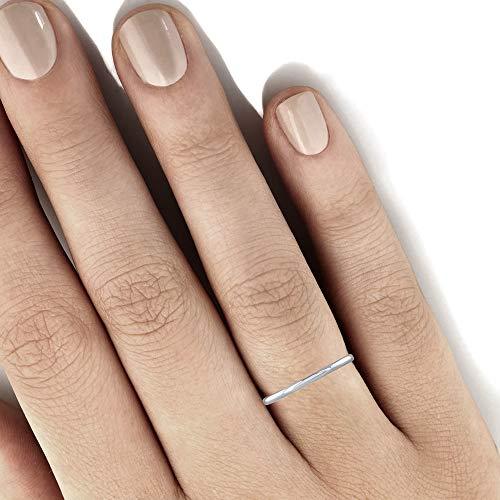 950 Platinum 1.5 mm Plain Wedding Band (Ring Size 6.5)