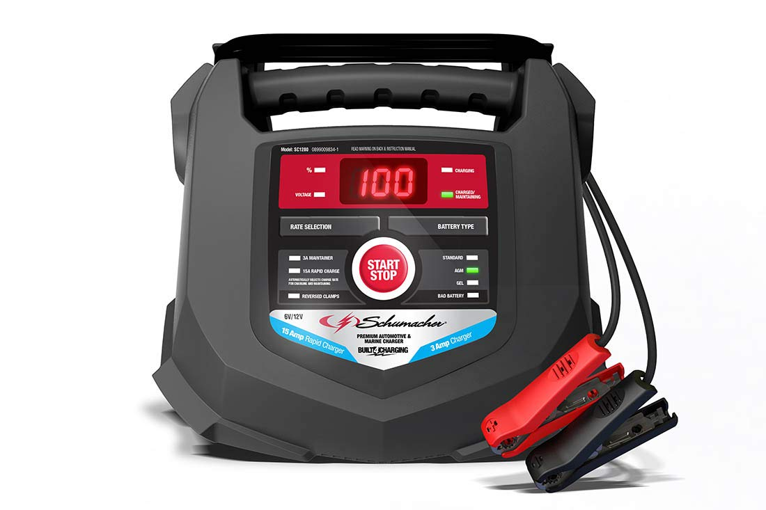 Schumacher SC1280 6/12V Rapid Battery Charger and 15A Maintainer by Schumacher