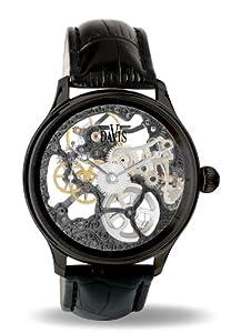 Davis - 0899 - Skeleton Mechanisch Herrenuhr mit sichtbarem Uhrwerk Schwarz -...