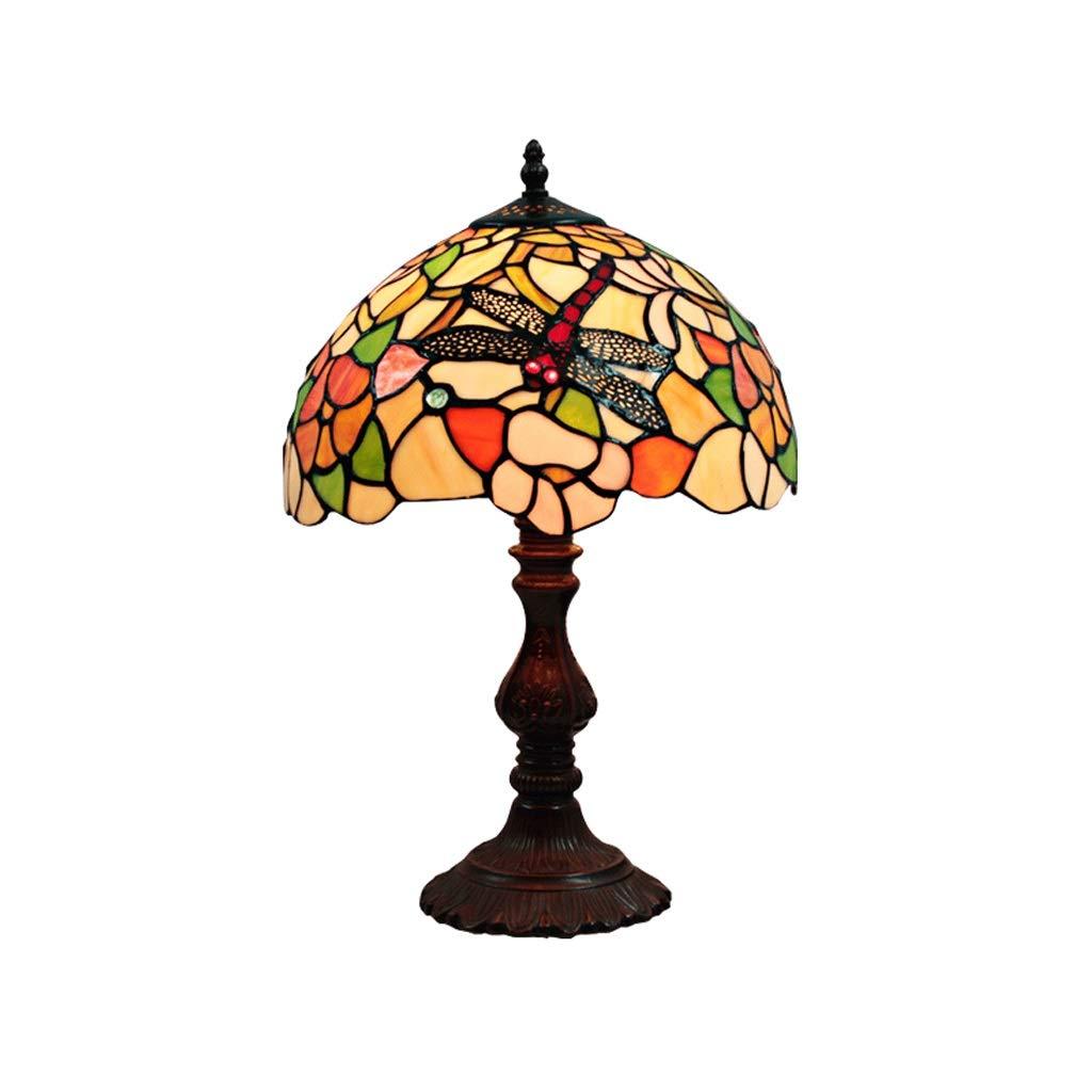 SHWSM 寝室のレストランのために適した多色のガラス卓上スタンドの手で装飾されたランプの合金の基盤 テーブルランプ (色 : D) B07RJFXLS1 D