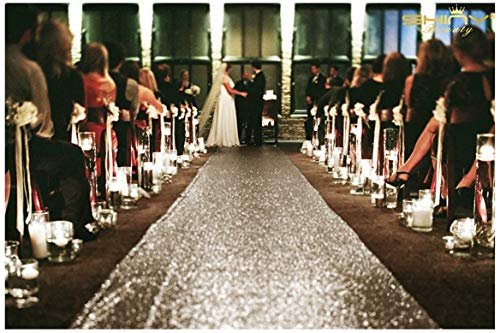 (ShinyBeauty Aisle Runner-25FTX4FT-Copper, Aisle Runner Outdoor Wedding,Aisle Runner for Wedding, Sequin Aisle Runner,Aisle Runner Fabric, Wedding Walkway, Church Runner)