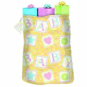 Amscan Adorable Cute As Button Giant Gift Sack Party Supply (Pack of 1), Multicolor, 44  x 36