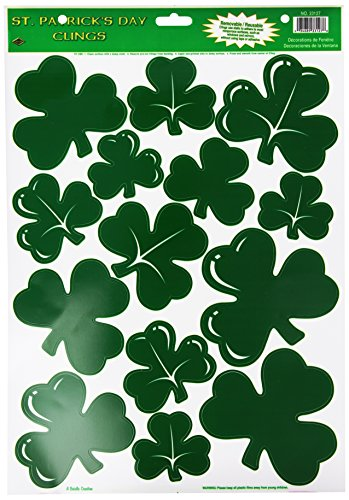 Shamrock Clings Party Accessory (1 count) (14/Sh) ()