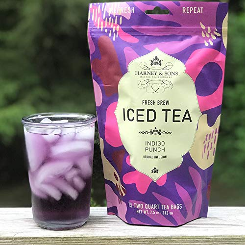 Harney & Sons Indigo Punch Herbal Iced Tea, 15 Two Qt Tea Bags