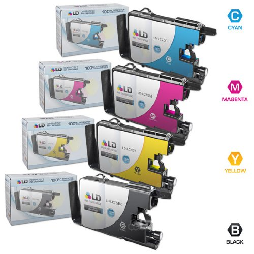 LD © Compatible LC75 Bulk Set of 4 High Yield Ink Cartridges:...