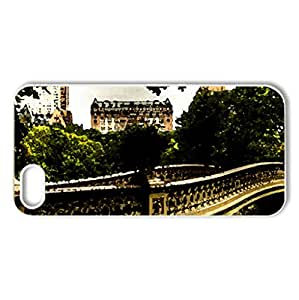 City - Case Cover for iPhone 5 and 5S (Bridges Series, Watercolor style, White)