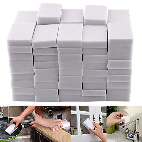 100PCS Magic Sponge Eraser Cleaning Melamine Multi-functional Foam Cleaner