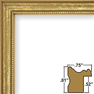 12x18 picture poster frame ornate finish 75 wide ornate gold 314gd