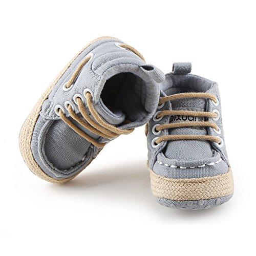 Luerme Zapato de Primer Paso Zapato deportivo de niños Zapato de cuatro estación Gris