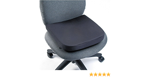 Kensington Memory Foam Seat Rest 13 1 2 W X 2 D X 14 1 2 H Black Sold As 2 Packs Of 1 Total Of 2 Each Backrests Office Products