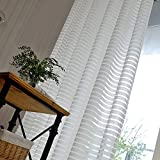 Cheap Ivory White Cross Stripe Sheer Curtains Voile – Anady Top 2 Panel White Stripe Sheer Drapes Grommet 72 inch Extra Wide(2018 NEW)